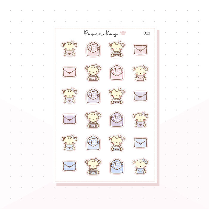 (011) Happy Mail Planner Stickers