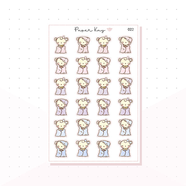 (022) Cosy, Snacking Planner Stickers