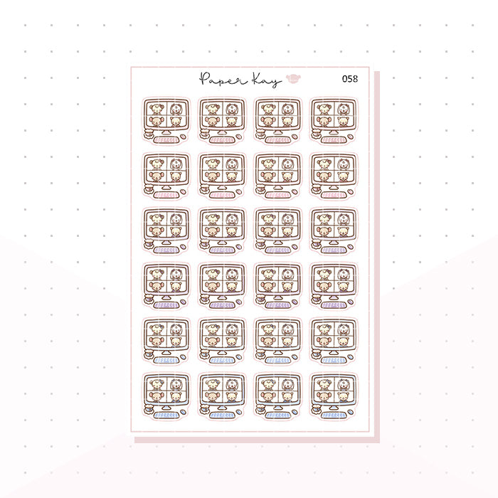 (058) Zoom Call Planner Stickers