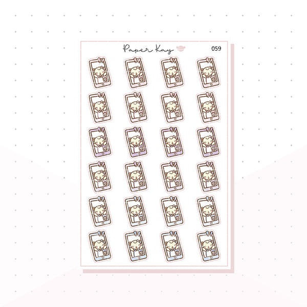 (059) Video Call Planner Stickers