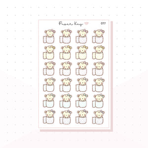 (077) Toilet Paper / Roll Planner Stickers