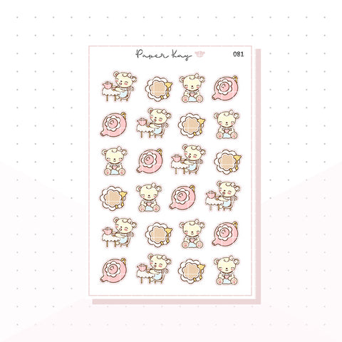 (081) Tea Cup and Pot Planner Stickers