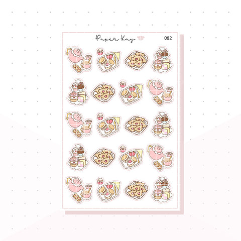 (082) Afternoon Tea Planner Stickers