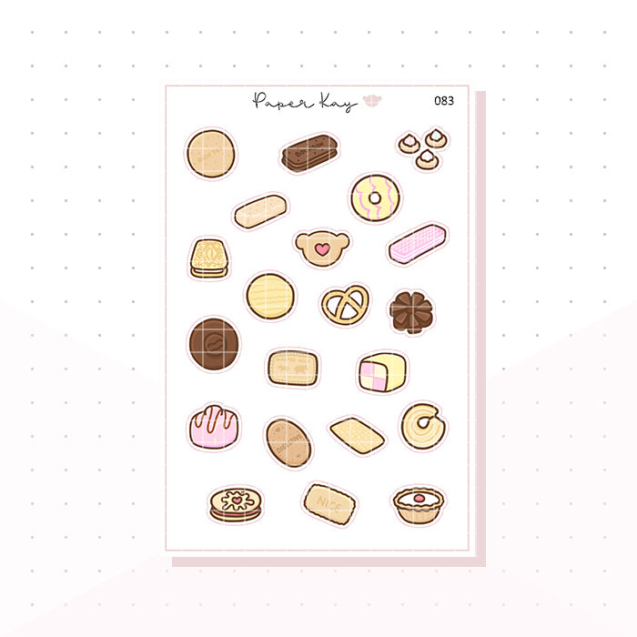 (083) British Biscuits and Cakes Planner Stickers