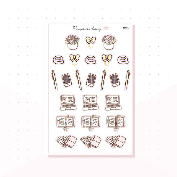 (085) Planning Time Deco Planner Stickers