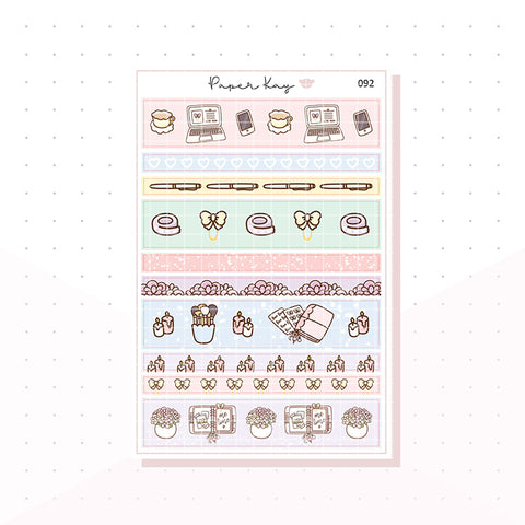 (092) Planning Time, Washi Strip Planner Stickers