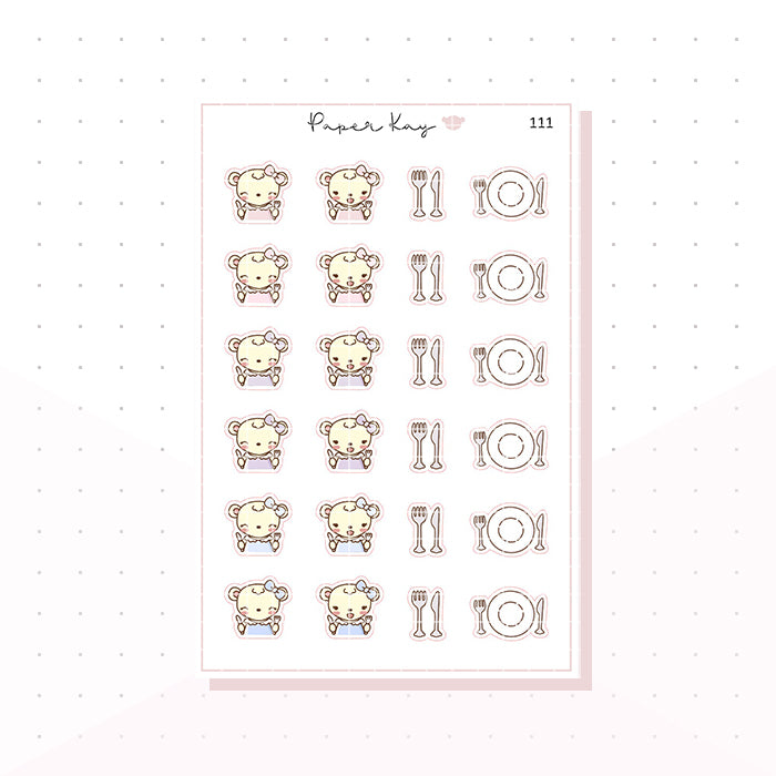 (111) Meal Time Planner Stickers