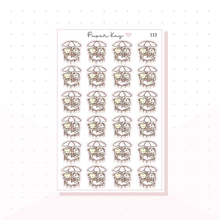 (112) Catch Up Drinks Planner Stickers