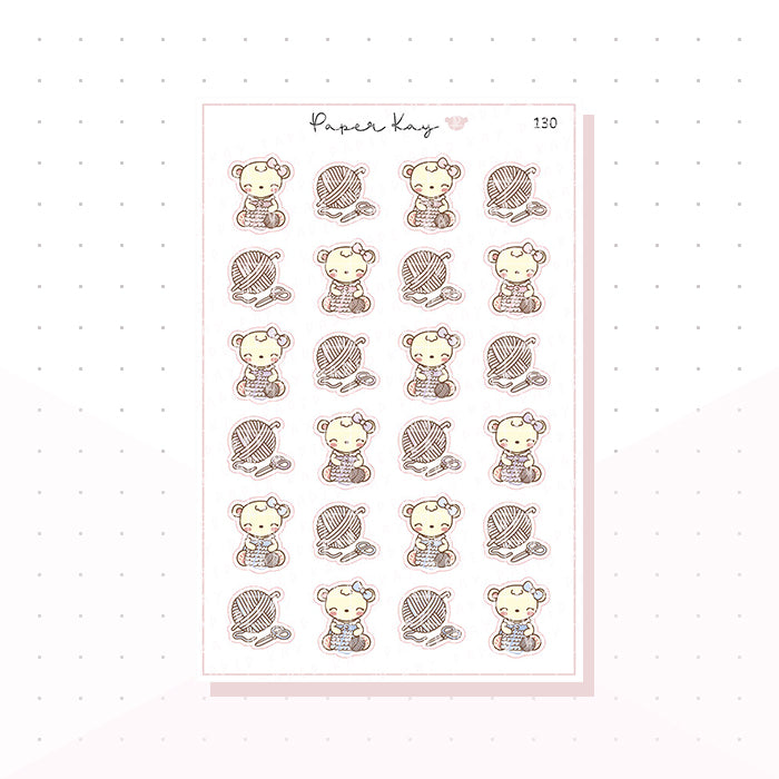 (130) Crochet Planner Stickers