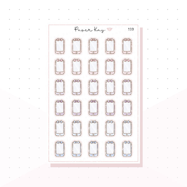(133) Mobile Phone Planner Stickers
