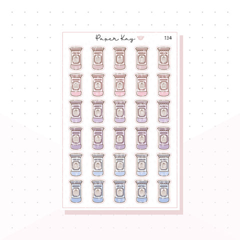 (134) Post Box/Mailbox Planner Stickers