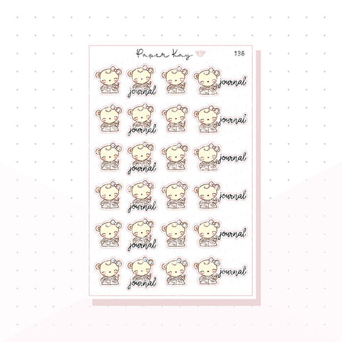 (136) Journaling Planner Stickers