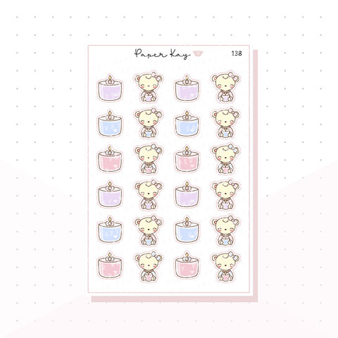 (138) Candle Planner Stickers