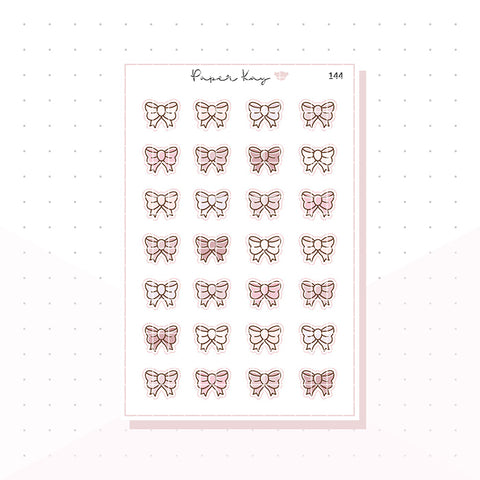(144) Sweet Birthday Bows - Planner Stickers