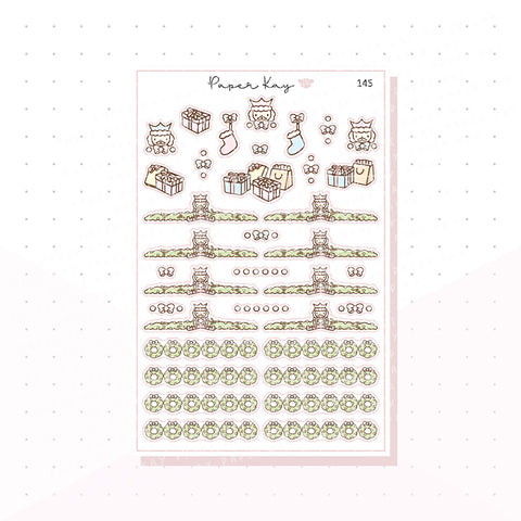 (145) Pastel Nutcracker Headers - Functional Stickers