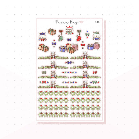 (146) Traditional Nutcracker Headers - Functional Stickers