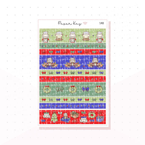 (148) Traditional Nutcracker Washi Strip Planner Stickers
