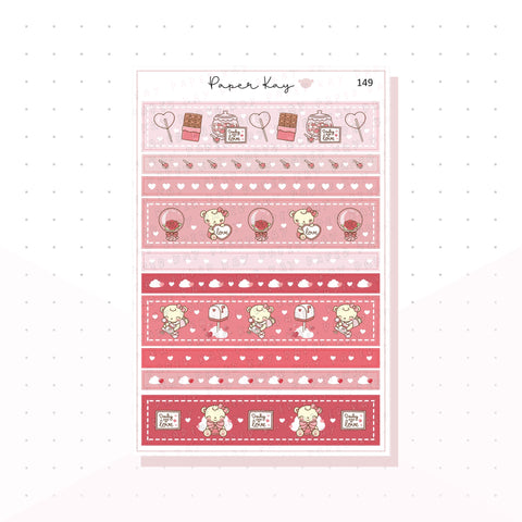 (149) Love Washi Strips -  Planner Stickers