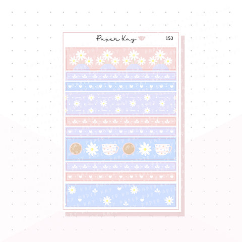 (153) Mother's Day Washi Strip Planner Stickers