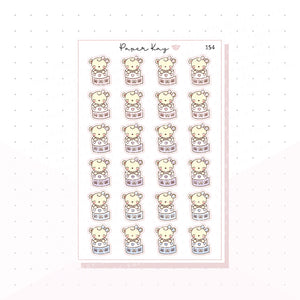 (154) Dot the Bear Washi Planner Stickers