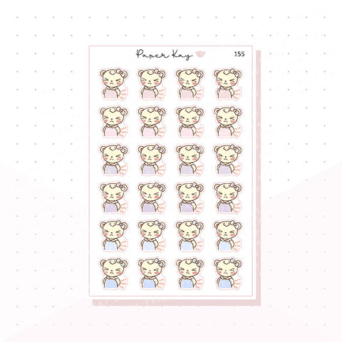 (155) Backache Planner Stickers