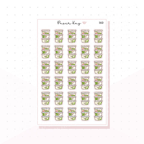 (160) Meal Prep Planner Stickers