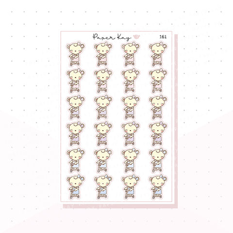 (161) Scooter Planner Stickers