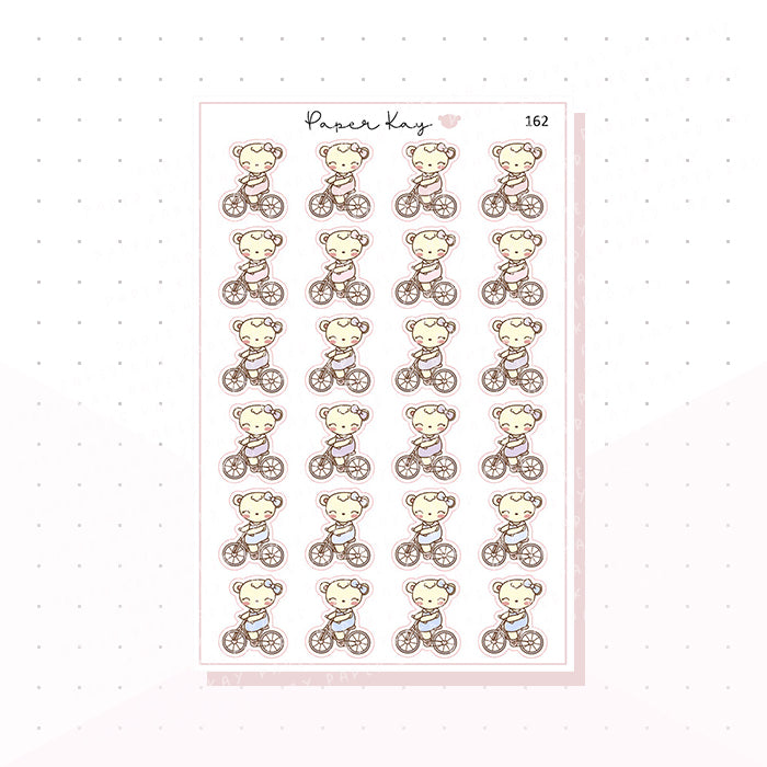 (162) Riding Bike Planner Stickers