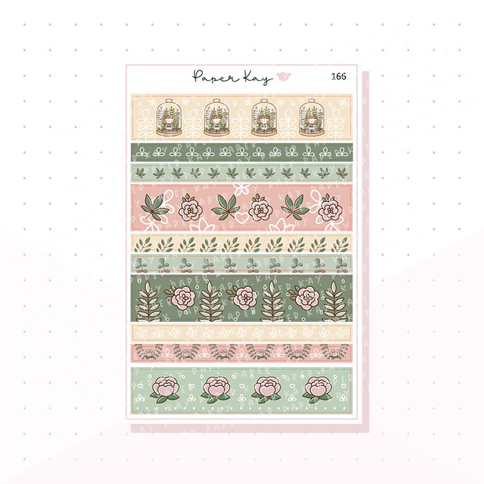 (166) Botanical Washi Strips - Planner Stickers