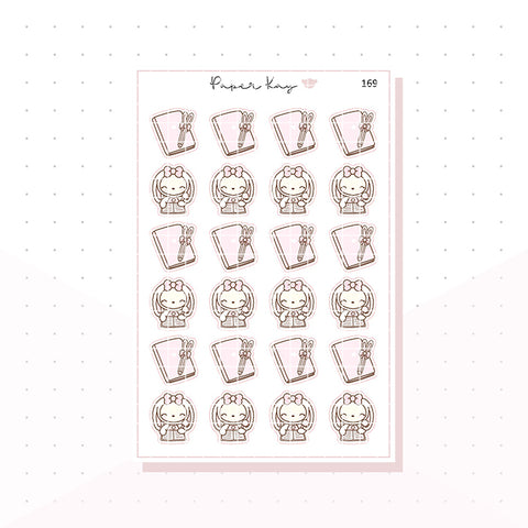 (169) Planner Bunny - Journal/Plan - Planner Stickers