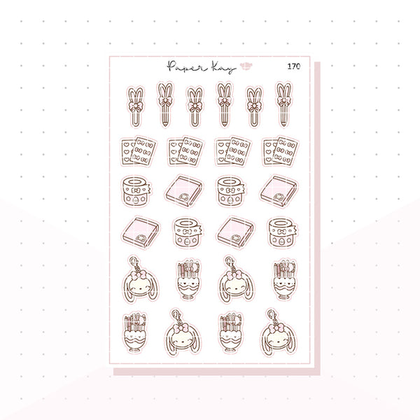 (170) Planner Bunny - Stationery - Planner Stickers