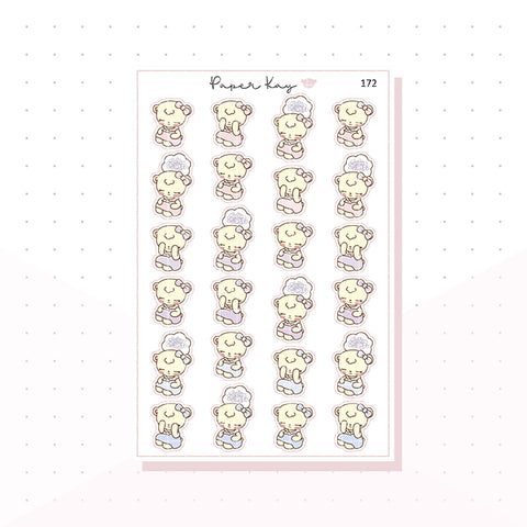 (172) Confused/Stressed/Brain fog - Planner Stickers