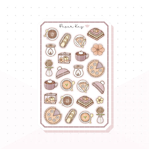 Autumn Comforts Bujo Deco Planner Stickers