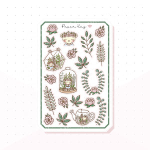 Botanical Bujo Deco Planner Stickers