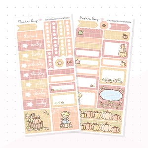 Cinderella's Pumpkin Patch PP Weeks Kit (Autumn Colours) - Planner Stickers
