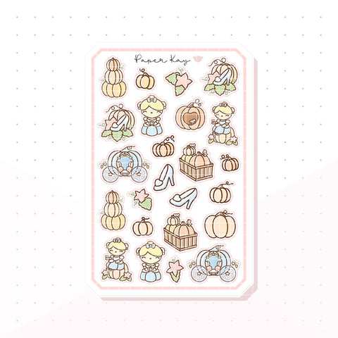 Cinderella's Pumpkin Patch Bujo Deco Planner Stickers