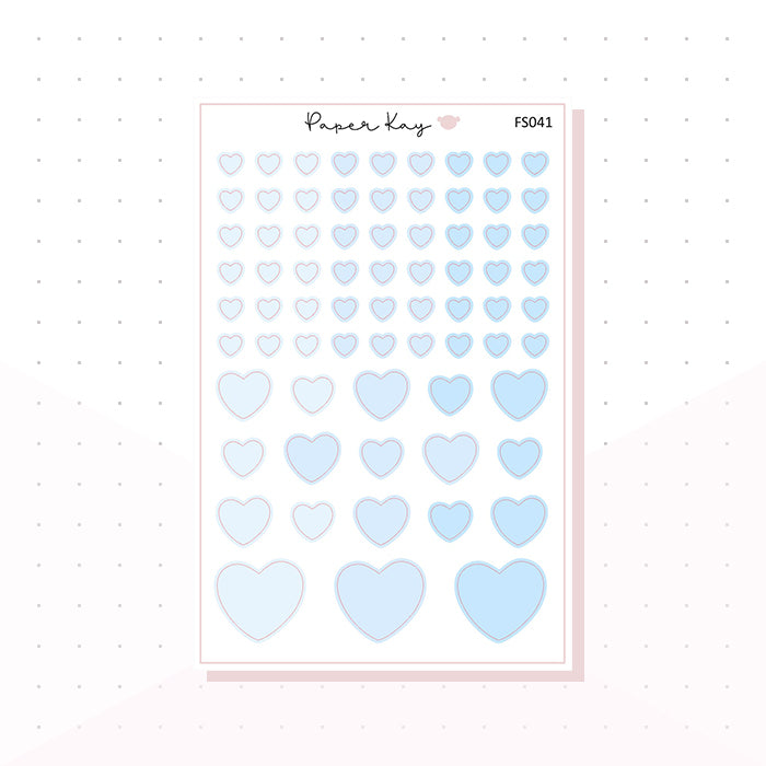 (FS041) Baby Blue Hearts - Functional