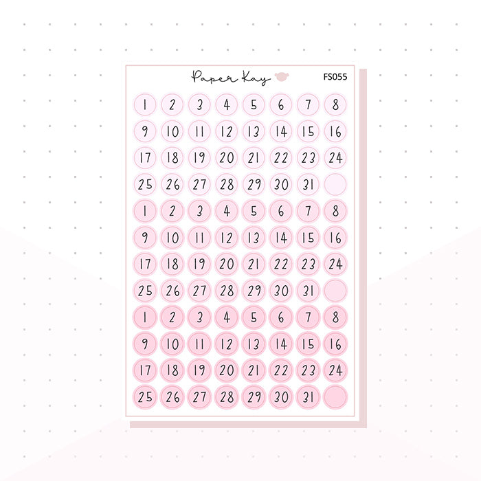 (FS055) Pretty Pink Date Dots - Functional