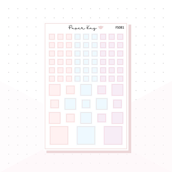 (FS081) Soft Pastels Squares - Functional