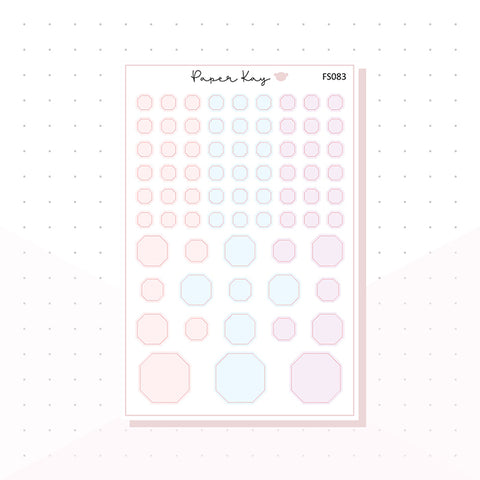 (FS083) Soft Pastels Octagons - Functional