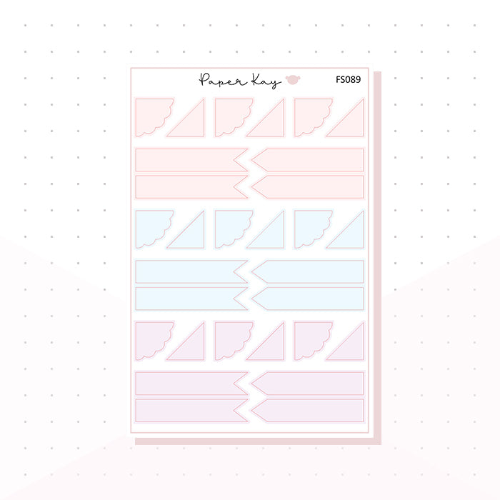 (FS089) Soft Pastels Page Flags - Functional