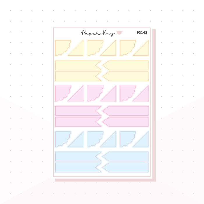 (FS143) Sweet Sherbet Page Flags - Functional