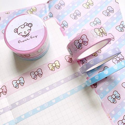 Bow Washi Tape (Set of 3)