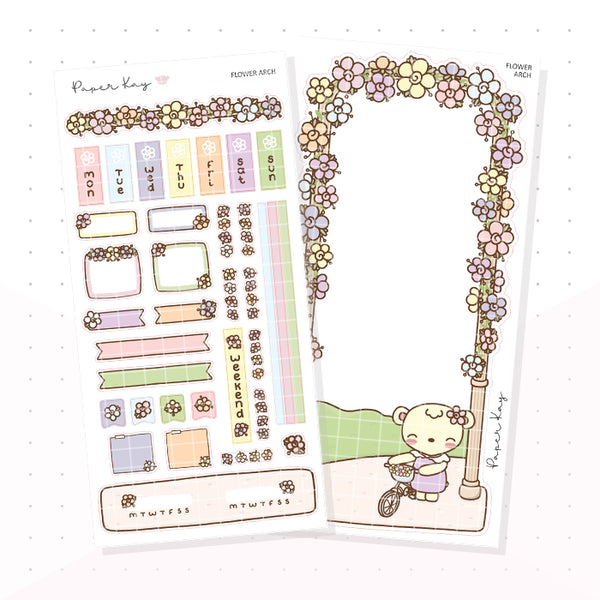 Spring Arch Hobonichi Weeks Kit - Planner Stickers