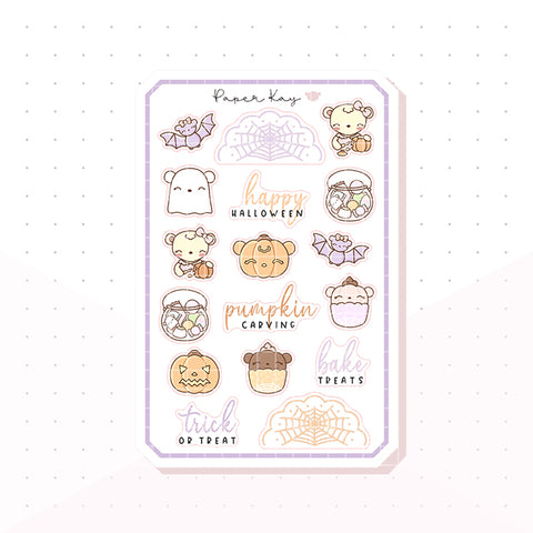 Halloween Fun Bujo Deco Planner Stickers