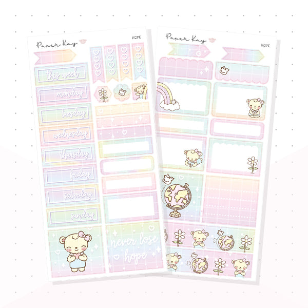 Hope PP Weeks Kit - Planner Stickers