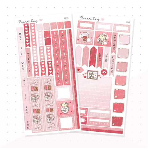 Love Hobonichi Weeks Kit - Planner Stickers