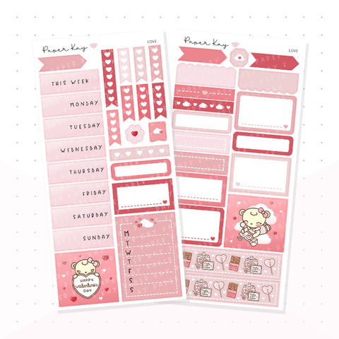 Love PP Weeks Kit - Planner Stickers