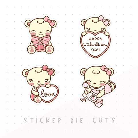 Love - Dot the Bear Die Cuts