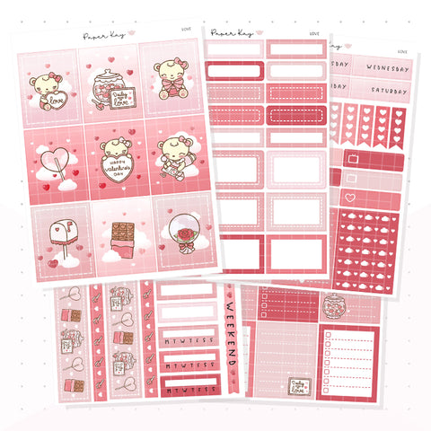 Love Weekly Vertical Kit - Planner Stickers